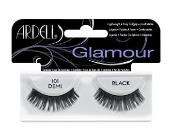 76983a94fbd Amazon.com : Ardell Fashion Lashes Pair - 101 Demi Black (Pack of 4) : Fake  Eyelashes And Adhesives : Beauty