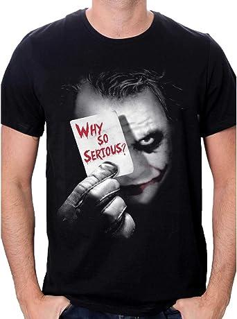 Batman Joker Why So Serious Camiseta para Hombre: Amazon.es: Ropa y accesorios