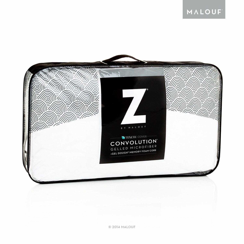 Amazon Com Z Convolution Pillow Gel Infused Dough Memory Foam