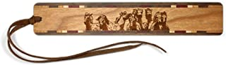 product image for Wild Horses Engraved Wooden Bookmark with Suede Tassel - Search B07GVRLFLM to See Personalized Version