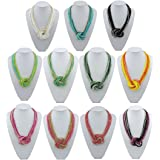 BOCAR Seed Beads Multilayer Chunky Bib Statement Knot Necklace