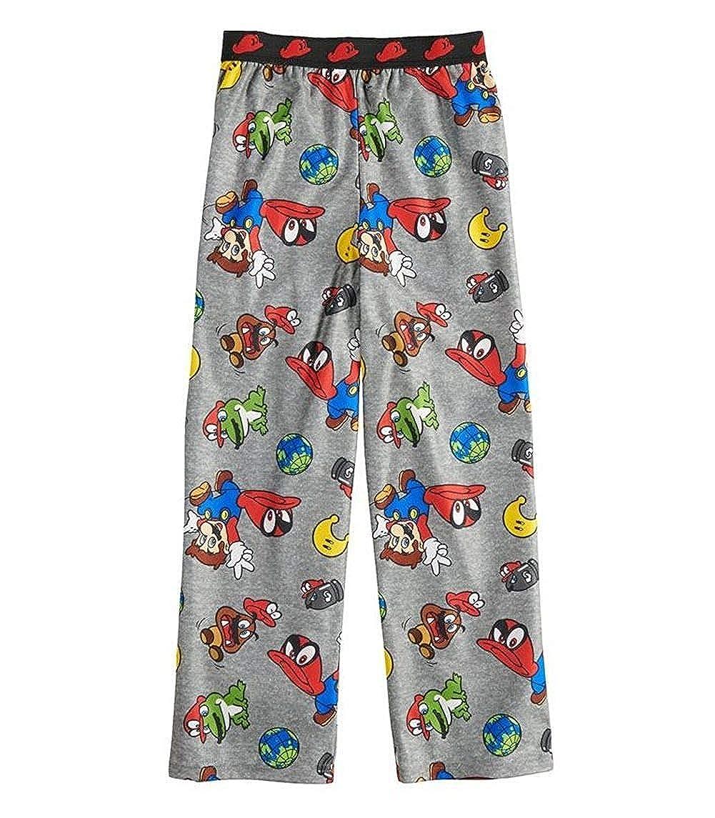 AME Boys Super Mario Odyssey Pajama Lounge Wear Sleep Pant Elastic Waist