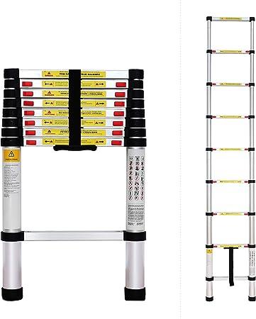 Echelle Telescopique Sac de transport OFFERT EN 131 s /Échelle Pliable Todeco Charge maximale: 150 kg Standards//Certifications: EN131-2,6 m/ètre