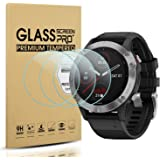 Suoman 3-Pack for Garmin Fenix 6 Screen Protector Tempered Glass for Garmin Fenix 6/6 Pro/ 6 Sapphire [2.5D 9H Hardness][Anti-Scratch] (Do Not Fit for Fenix 6S/6X)