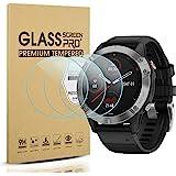 Suoman 3-Pack for Garmin Fenix 6 Screen Protector Tempered Glass for Garmin Fenix 6/6 Pro/ 6 Sapphire [2.5D 9H Hardness][Anti