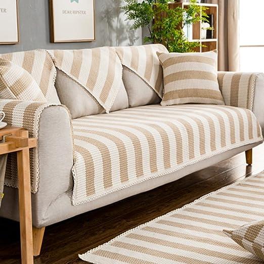 D&LE Protector para sofás,Color sólido Funda de sofá Algodón ...