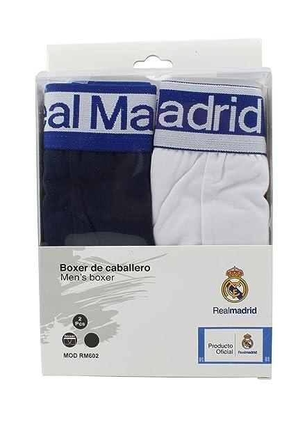 Boxer Hombre - Segunda Real Madrid - Producto Oficial - Set 2 Pares (M)