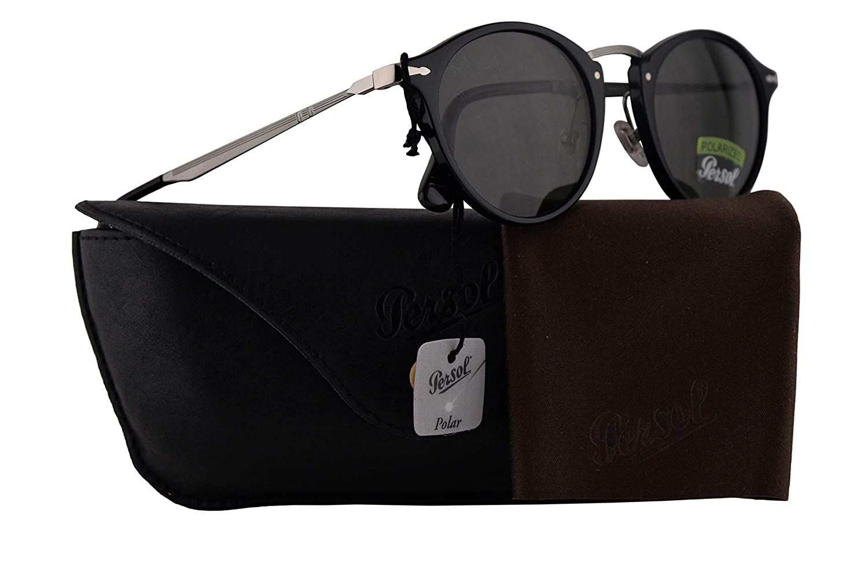 87091649b40 Amazon.com  Persol PO3166S Calligrapher Edition Sunglasses Black w Polarized  Green Lens 49mm 9558 PO 3166S PO3166-S PO 3166-S  Clothing