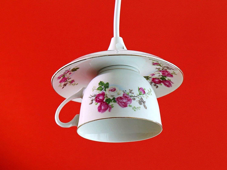 Tassenlampe, Upcycling Lampe aus Geschirr Tasse, Geschirrlampe, Küchenlampe Küchenlampe