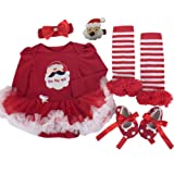 Baby Christmas Dresses Santa Outfits Newborn Girl Clothes Infant Tutu Costumes