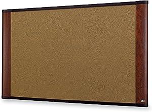 "3M 36"" x 24"" Cork Board, Mahogany Finish Frame (C3624MY)"