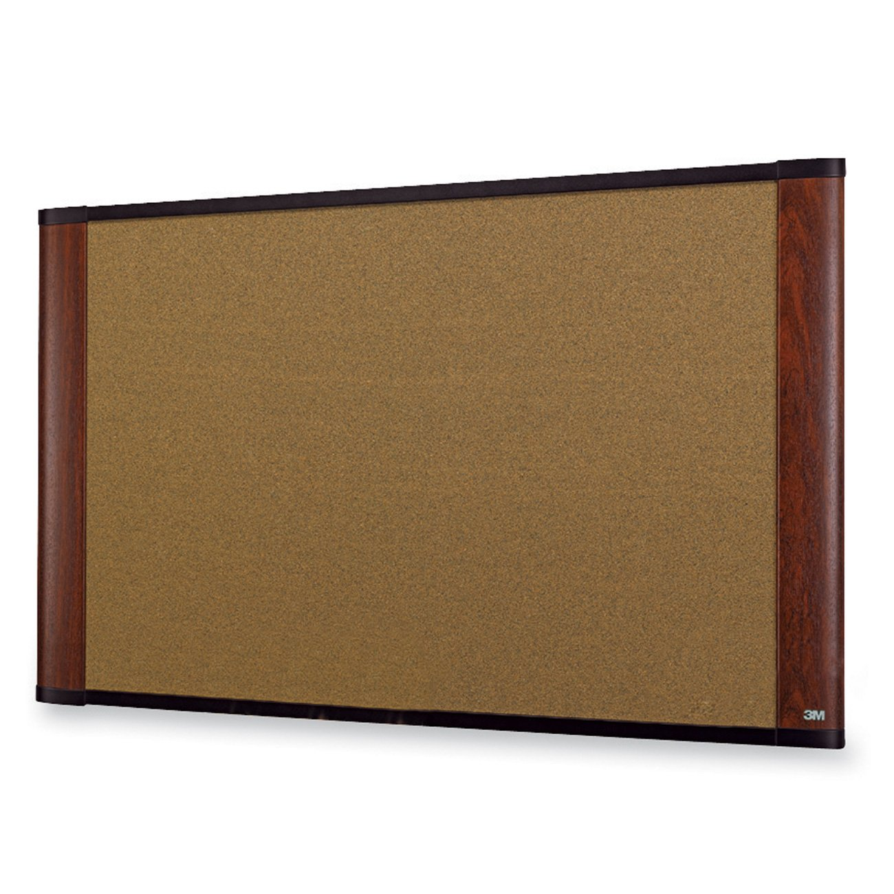 3M 36'' x 24'' Cork Board, Mahogany Finish Frame (C3624MY)