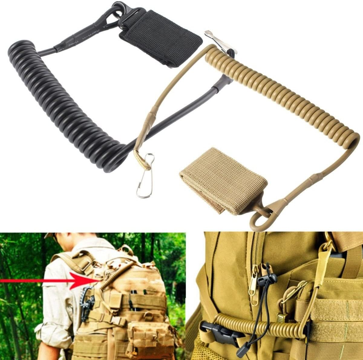 Yosoo Health Gear Clip Molle Tactique Accessoire Ceinturon Tactique Attache Ceinturon Tacticals Molle Hook Tacticals Porte-cl/és Porte-cl/és Sangle Porte-cl/és Tactique Molle Accrochage Ceinture