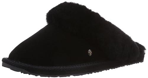 it Donna Jolie schwarz Pantofole Amazon Nero 42 black Emu E87SqWRS