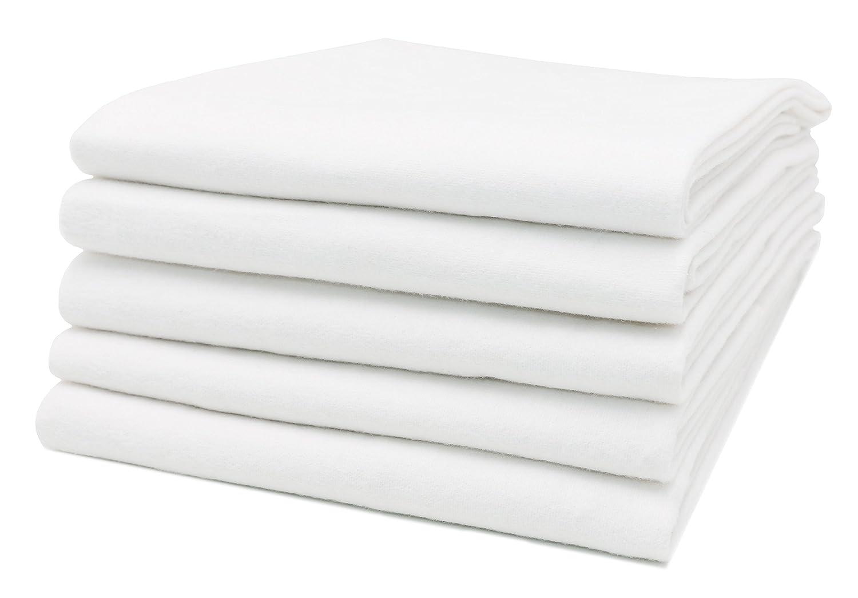 Zollner 5 paños de bebé de franela 100% algodón, 80x80 cm, multiusos, muy suaves y absorbentes