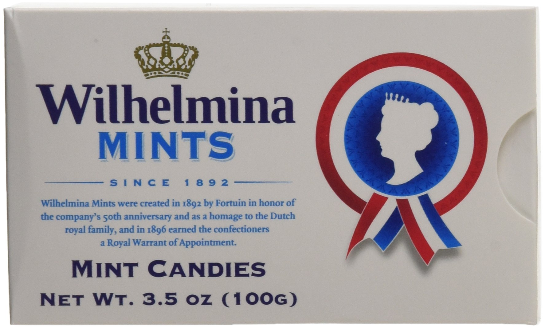 Fortuin Wilhelmina Peppermints Box 3.5 Oz (Pack of 12)