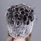 Best Discreet Women Fur hat for Winter Natural rex