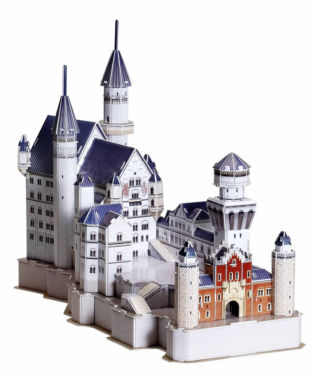 Aoshima Sky Net POP Out World Solid Puzzle No.02 Schloss Neuschwanstein by Aoshima