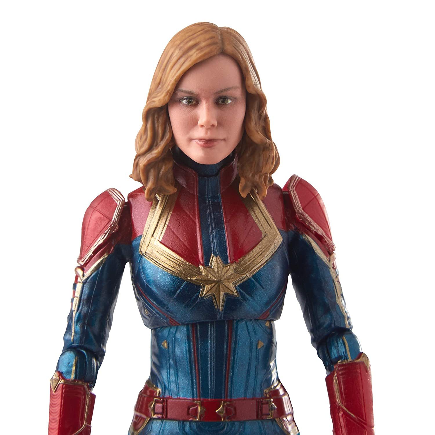 Marvel Captain Marvel  6-inch Legends Captain in Costume Figure for Collectors and Fans Hasbro E3885AS00 Kids