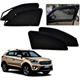 Auto Pearl Zipper Magnetic Sun Shades Car Curtain for Hyundai Creta (Pack of 4)