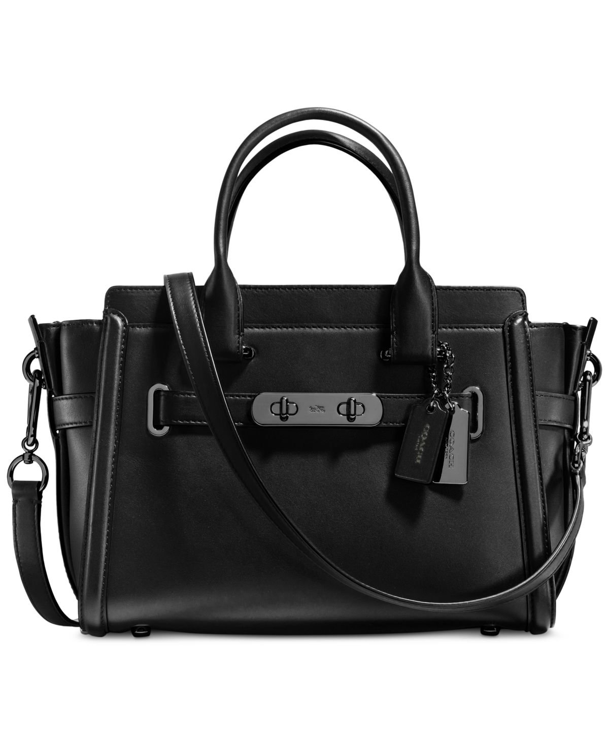 COACH Women's Glovetan Coach Swagger 27 DK/Black Satchel