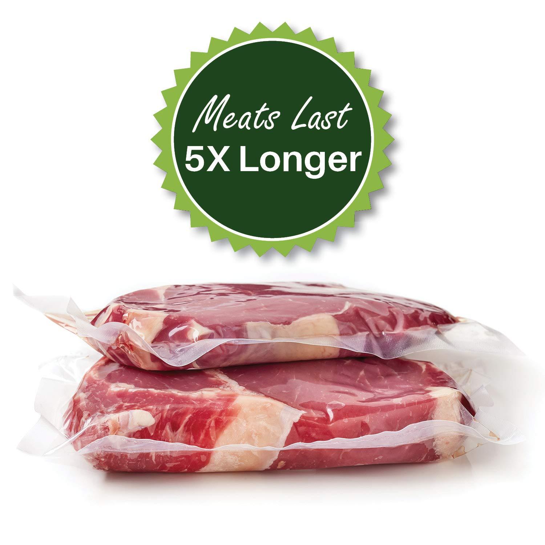 400 8'' X 12'' Quart FoodVacBags Vacuum Sealer Bags Professional Grade Foodsaver Type by FoodVacBags (Image #6)