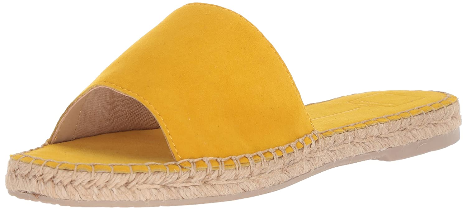 Dolce Vita Women's Bobbi Slide Sandal B077QJ3K2L 7.5 B(M) US|Yellow Suede