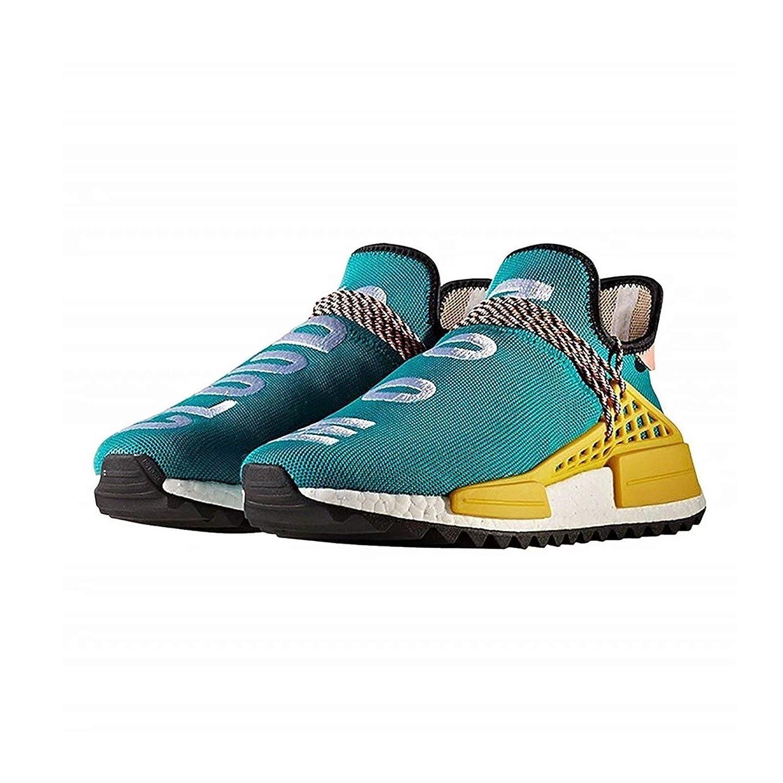 Woherren Casual Breathable Lightweight Trail Human Race Pharrell Pharrell Pharrell schuhe Free Fashion Turnschuhe Light Blau EU38.5 c58c25