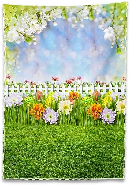6x8 FT Backdrop Photographers,Classical Spring Yard Florescence Pastel Colored Flourish Pattern Background for Kid Baby Boy Girl Artistic Portrait Photo Shoot Studio Props Video Drape Vinyl
