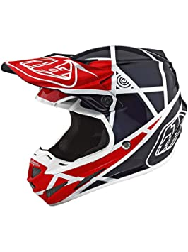 Troy Lee Designs Casco Mx 2018 Se4 Composite Metric Rojo-Azuloscuro (S, Rojo