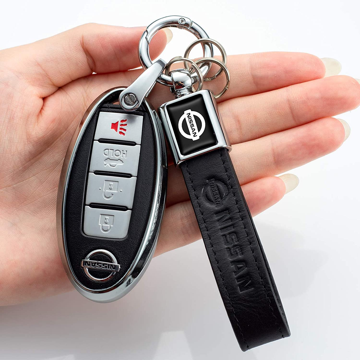 for Nissan Key Fob Cover,Key Fob Case for Nissan Altima Maxima Murano Rogue Sentra 370z Pathfinder Smart Remote Premium Soft TPU Nissan Key Cover 4 Button red