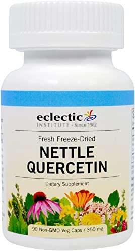 Eclectic Institute Fresh Freeze-Dried Stinging Nettle Quercetin - 350 mg - 90 Vegetarian Capsules