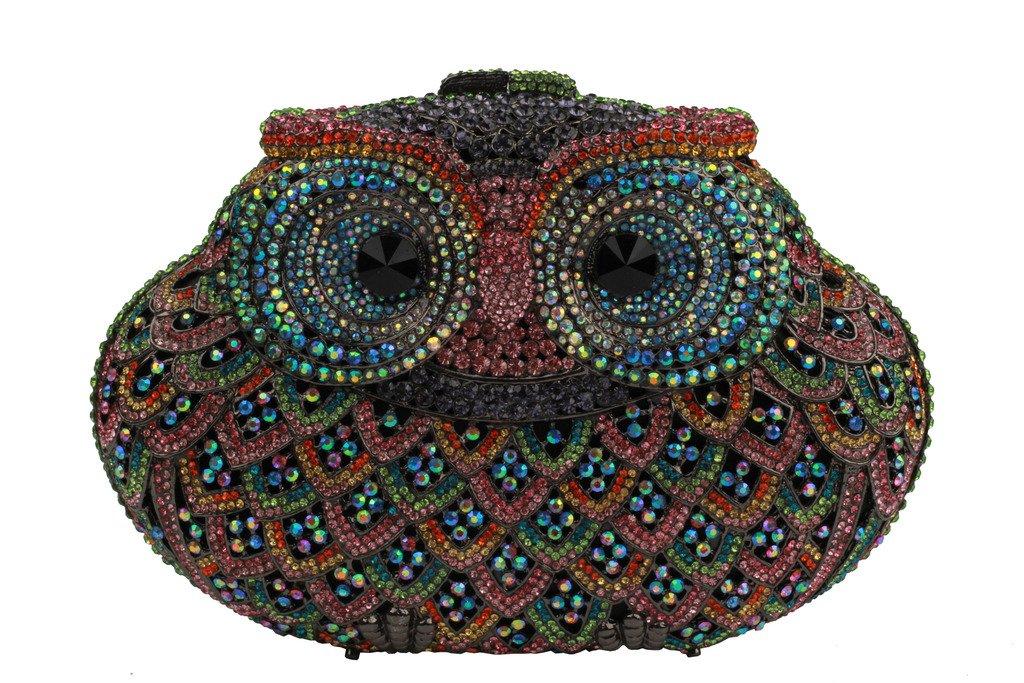 YILONGSHENG Owl Style Diamond Evening Handbags EB0684 Multicolor by YILONGSHENG