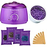 Yeelen 300g Violet Hard Wax Beans Hot Wax Beads for Hair Removal Stripless & Painless Natural Ingredients Wax for Legs, Underarms, Brazilian Bikini, Eyebrow, Face & Body