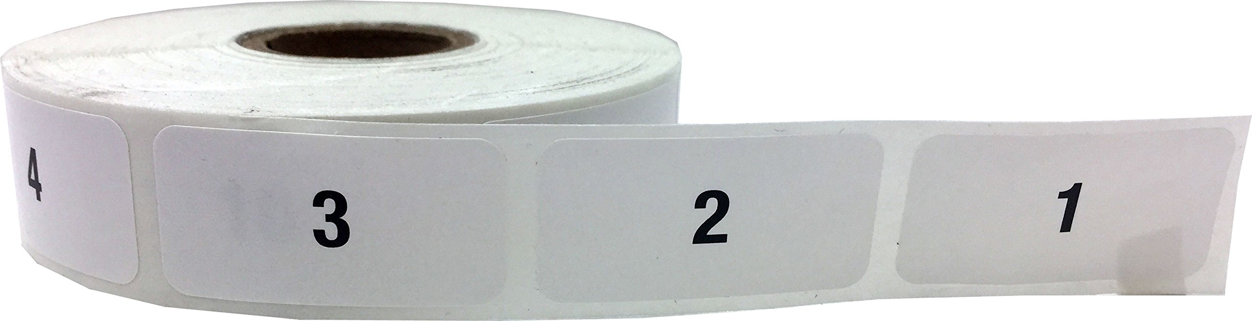Consecutive Number Labels Bulk Pack Numbers 1 Through 10,000 White/Black .75 x 1.5 Rectangle Small Number Stickers For Inventory by InStockLabels.com (Image #3)