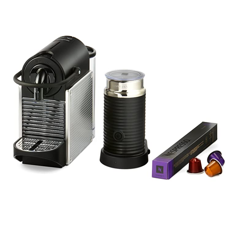 Nespresso Pixie Coffee Machine with Aeroccino, Electric Aluminium ...