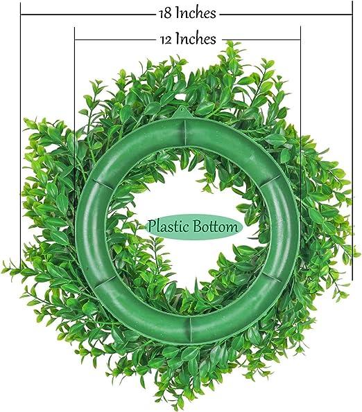 Ghirlanda per Appendere Piante Verdi Artificiali per la Decorazione Domestica di Nozze da Parete per Finestre da Esterno per Interni Tipo B UArtlines Ghirlande per Porte Anteriori da 45cm