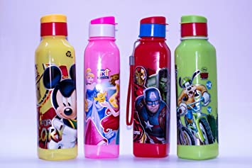 Shopkooky Birthday Gift For Kids Boys Girls Printed Cartoon Character Water Bottle