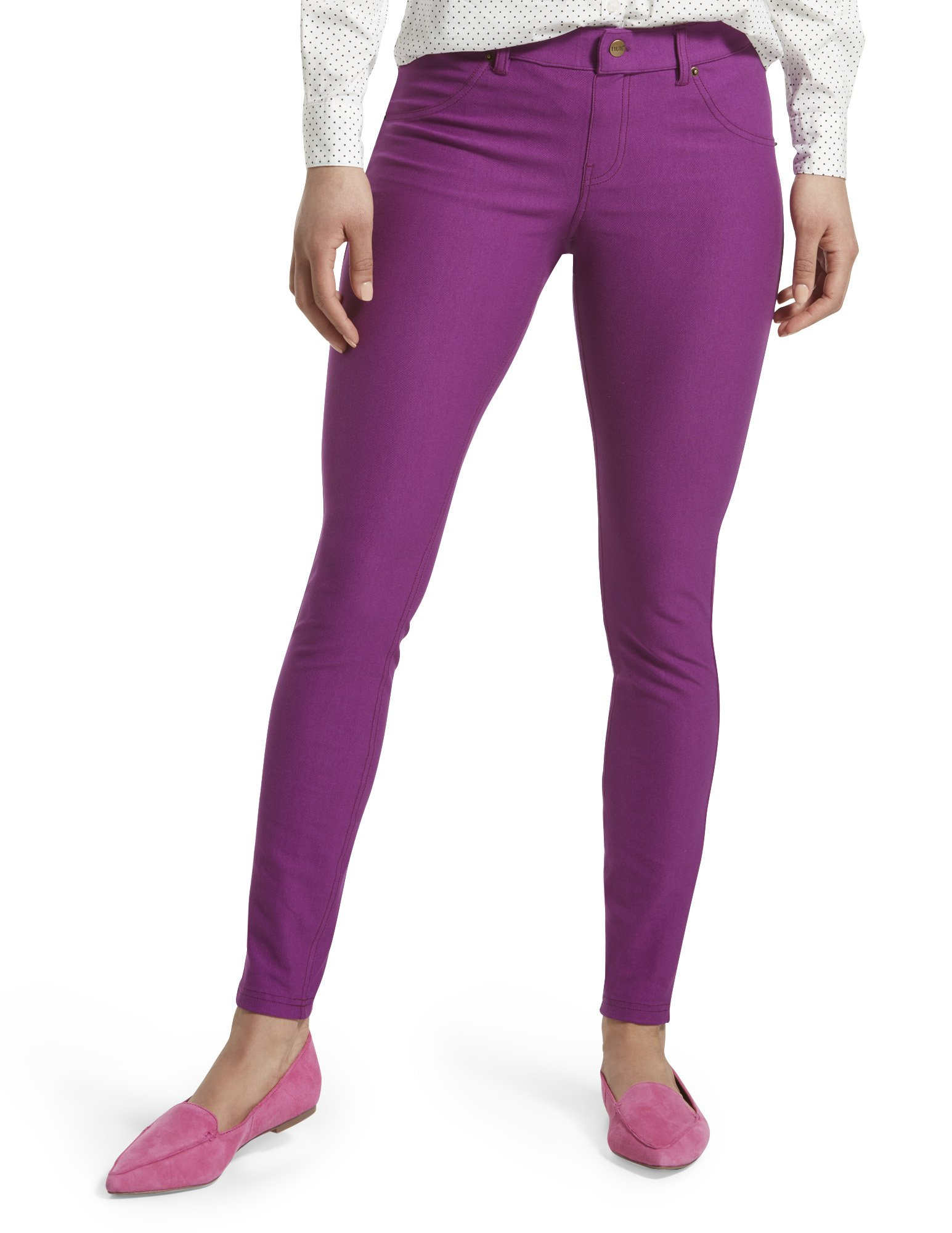 HUE Women's Essential Denim Leggings, Summer Plum, XS