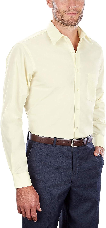 Van Heusen Men's Dress Shirt Regular Fit Poplin Solid at  Men's Clothing store