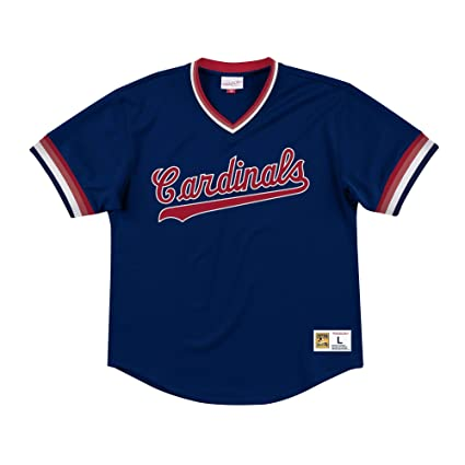 more photos 1d2d6 5e355 Amazon.com : Mitchell & Ness St Louis Cardinals Men's Mesh V ...