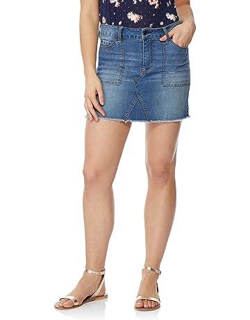 d69b9a3d96 WallFlower Women's Juniors Denim Skirt