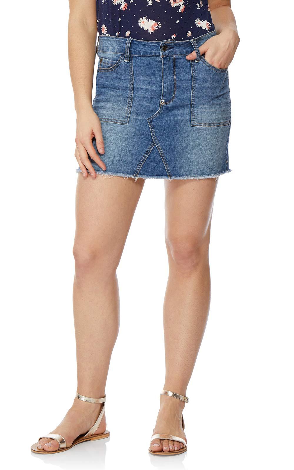 WallFlower Women's Juniors Denim Skirt in Mason, 11