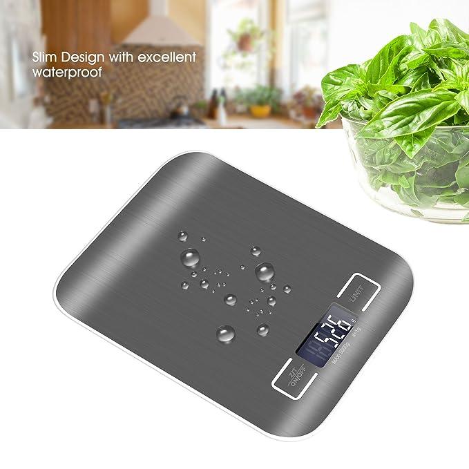 Báscula de Cocina y Comida, Digital Balanza Electrónica, Mini Escala de Alta Medición Precias y Digital Retroiluminación LCD para pesar frutas, alimentas, ...
