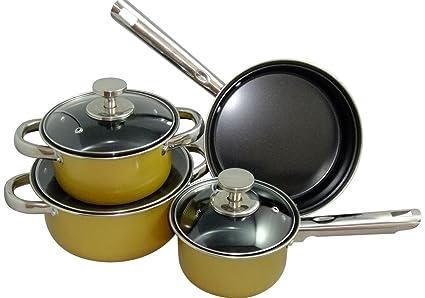 Mgi - Bateria de Cocina 7 Pzas Krhüner: Amazon.es: Hogar