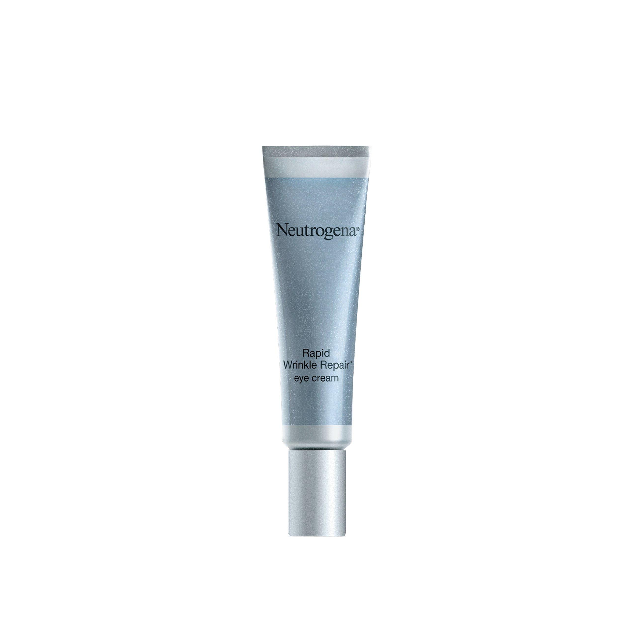 Neutrogena Rapid Wrinkle Repair Hyaluronic Acid Retinol Under Eye Cream - Anti Wrinkle Eye Cream for Dark Circles & Puffiness & Under Eye Bags - Hyaluronic Acid, Glycerin & Retinol Cream, 0.5 fl. oz by Neutrogena