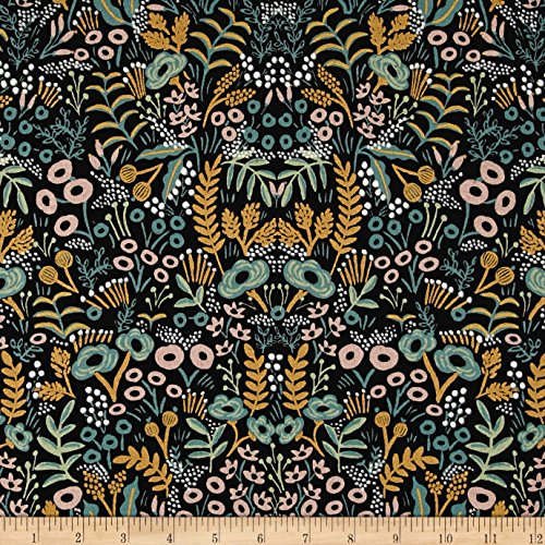 Fabric & Fabric Cotton + Steel Rifle Paper Co. Menagerie Metallic Canvas Tapestry Midnight