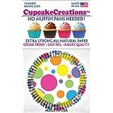 Cupcake Creations Jumbo Rainbow Dots Baking Cups (24 Pack), Multicolor