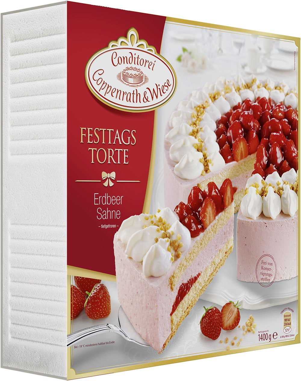 Conditorei Coppenrath Wiese Festtagstorte Erdbeer Sahne 1 4 Kg