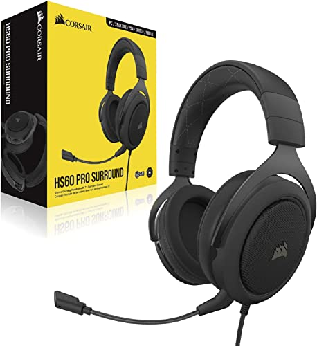 Corsair HS60 Pro – 7.1 Virtual Surround Sound PC Gaming Headset w/USB DA